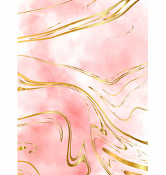 blush pink watercolor fluid painting design vector image