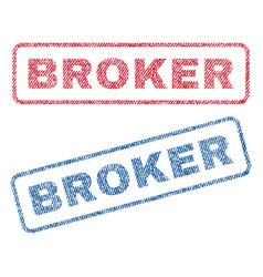 Broker textile stamps vector
