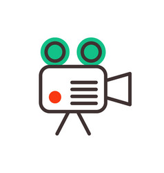 camera video optic objective retro equipment vector image