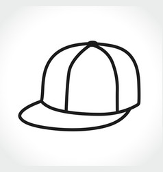 cap icon on white background vector image