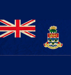 Cayman islands paper flag vector