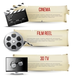 cinema banners vector image