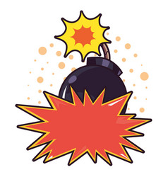 comic boom explosion pop art white background vector image