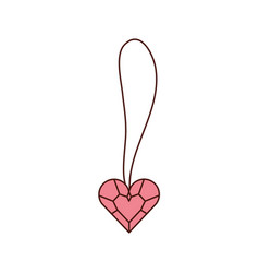 cute necklace heart jewelry for princess girl vector image