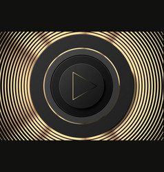 dark circle icon with play button black vector image