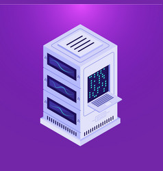 data storage on purple vector image