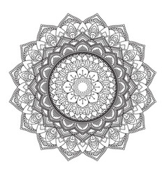 decorative mandala design 3005 vector image