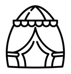 Egg tent icon outline style vector