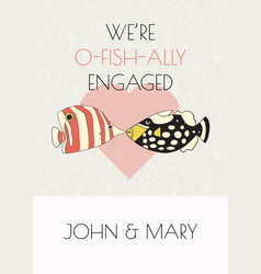 engagement announcement card fun pun design vector image