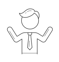 excited businessman line icon vector image