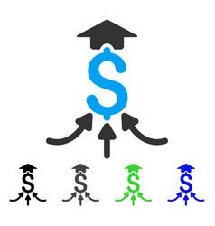 Financial aggregator flat icon vector
