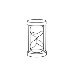 Flat vintage sandglass hourglass icon vector