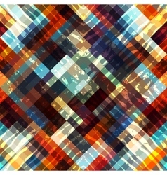 Geometric pattern on black background vector