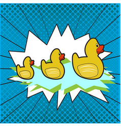 group of rubber ducks vector image