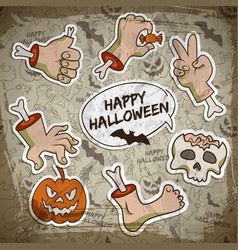 halloween greeting concept vector image