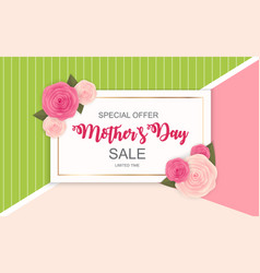 happy mother s day cute sale background vector image