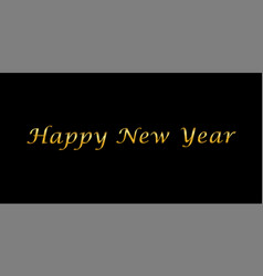 happy new year gold text decoration bright golden vector image