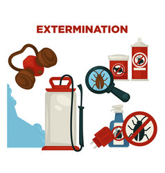 Harmful insects extermination devices and means vector