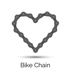 Heart created from a bicycle chain bike chain vector