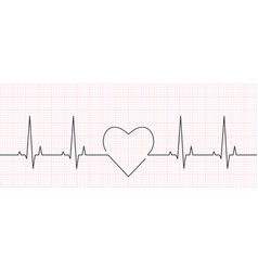 Heart rate cardiogram and ekg concept vector