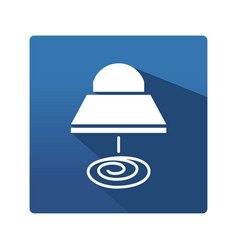 Industrial lamp icon vector