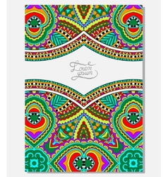 invitation card with neat ethnic background vector image