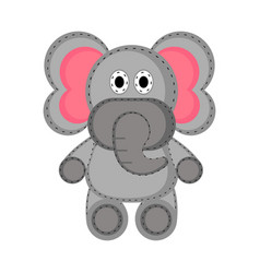 Isolated stuffed elephant toy icon vector
