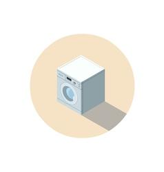 Isometric of washing machine washing clothes vector
