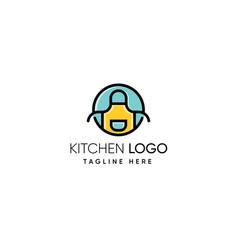 Kitchen logo design vector