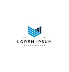 Letter v financial logo design concept vector