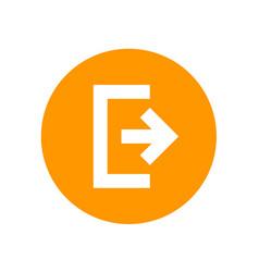 logout exit icon symbol vector image