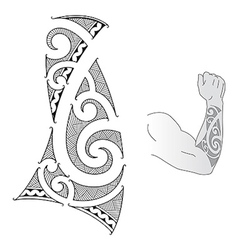 Maori forearm vector image