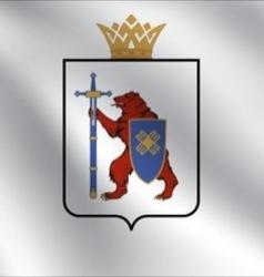 Mari EL flag vector