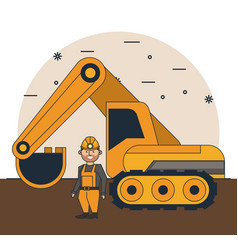 mining worker cartoon vector image