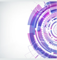 modern hi-tech futuristic concept vector image