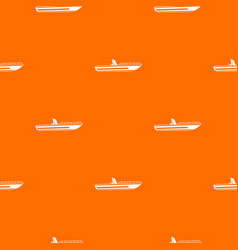 motor speed boat pattern seamless vector image
