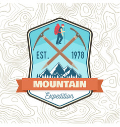 mountain expedition patch concept for vector image