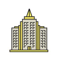 Multi-storey building color icon vector