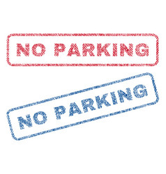 No parking textile stamps vector