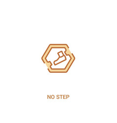 No step concept 2 colored icon simple line vector