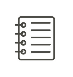 notepad icon line business note symbol vector image