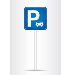 Parking traffic sign vector
