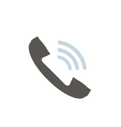 phone icon in flat style on white background vector image
