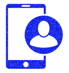 Phone user profile grunge icon vector