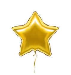 realistic detailed 3d golden star balloon vector image