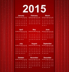 Red creative calendar 2015 year vector image