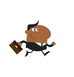 Running Businessman Cartoon vector
