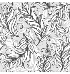 Seamless pattern with amazing feathers vector image