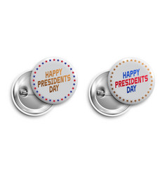 set of happy presidents day buttonsbadgesbanners vector image