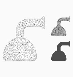 shower head mesh carcass model and triangle vector image